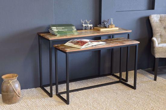 Afbeeldingen van CARMIN' Milwaukee Side-Table 120 cm Zwart Mangohout