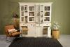 Afbeeldingen van CARMIN' London Buffetkast  210 cm Wit met Teak Schappen