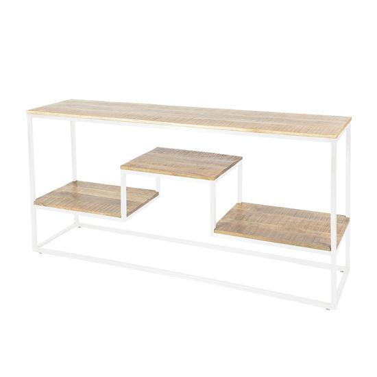 Afbeeldingen van CARMIN' Memphis Side-Table 160 cm Wit Mangohout