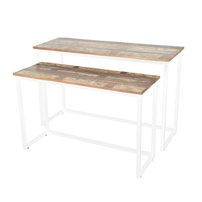 Afbeeldingen van CARMIN' Milwaukee Side-Table 120 cm Wit Mangohout