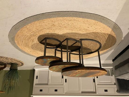 Afbeeldingen van CARMIN' Briston Salontafel Set 76 cm Grijs Mangohout