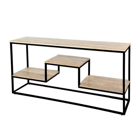 Afbeeldingen van CARMIN' Memphis Side-table 160 cm Zwart Mangohout