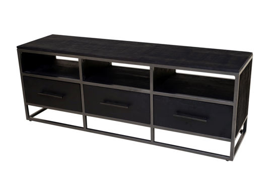 Afbeeldingen van Carmin' TV-Meubel Frankfurt 150 cm Mangohout Black