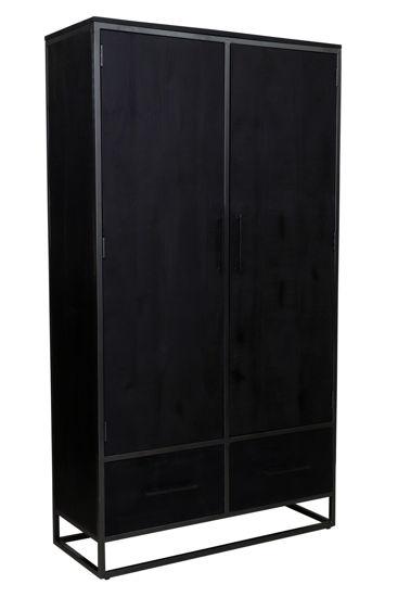 Afbeeldingen van Carmin' Opbergkast Frankfurt 180 cm Mangohout Black