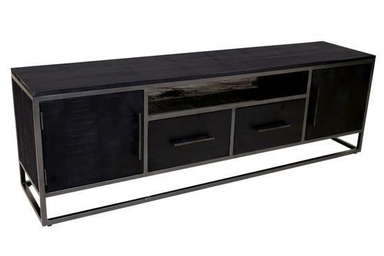 Afbeeldingen van Carmin' TV-Meubel Frankfurt 180 cm Mangohout Black