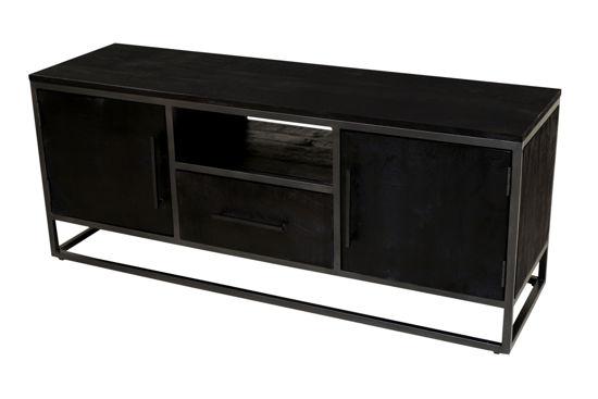 Afbeeldingen van Carmin' TV-Meubel Frankfurt 135 cm Mangohout Black